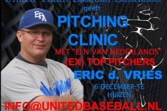 Aankondiging pitching clinic United Youth Baseball Education